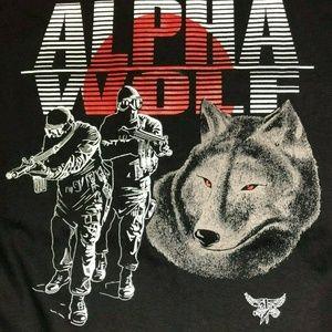 Vintage Alpha Wolf Single Stitch Made USA T Shirt